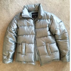Guess Silver Puffer Jacket